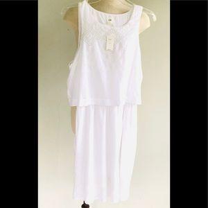 Gap Cotton Pocket White Dress